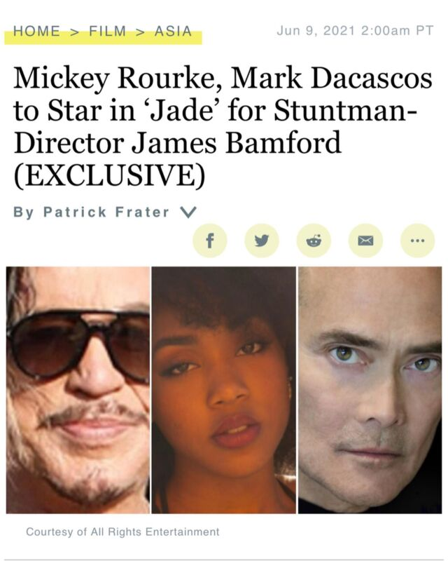 You asked for it.. ITS FINALLY HAPPENING.  I'm LEADING my first action movie with some of the most AMAZING film LEGENDS. @james2bambamford @mickey_rourke_ @dacascosmark   Humbled, honoured and ready! 🙇🏾♀️ thank you all.   📣 — all our dreams can come true if we have the courage to pursue them.✨.  Believe it! #Dattebayo